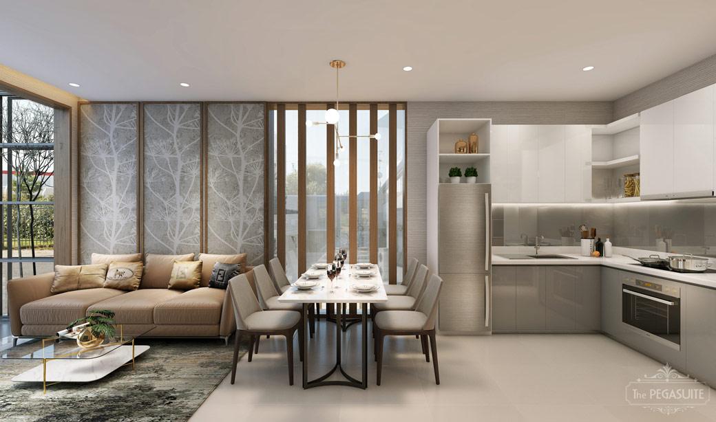 Phòng khách - căn hộ 3PN