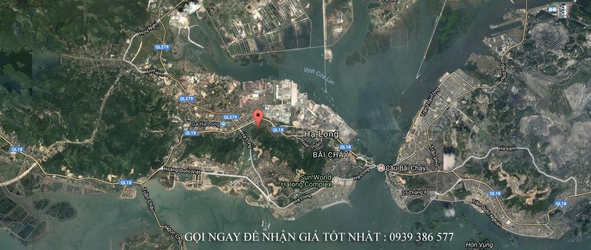 Vị trí biệt thự biển đồi Thủy Sản Quảng Ninh