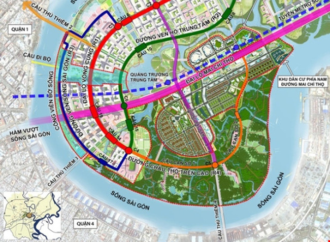 Các dự án cầu đường lớn nối Quận 2 và trung tâm