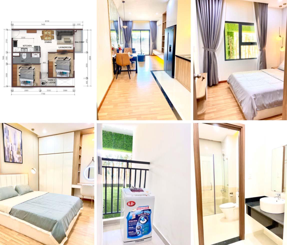 Nhà mẫu căn hộ 2PN